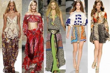 стиль бохо на мировых показах моды
