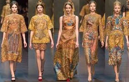 Византийские принты в коллекции Dolce&Gabbana