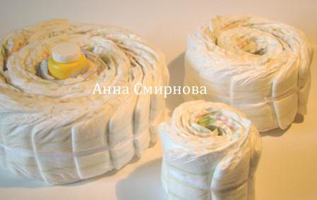 Торты из памперсов — фото 1