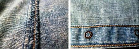 Швы с внутренней стороны рубашки