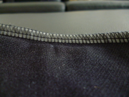 Плечевой шов с изнанки