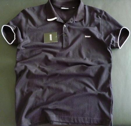 Черная футболка-поло DKNY