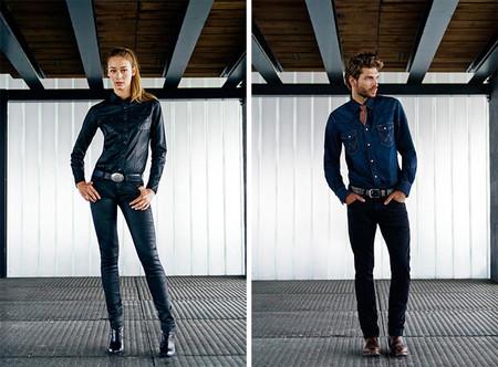 Женские и мужсие зауженные джинсы