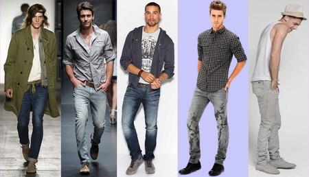 С чем носить мужские зауженные джинсы
