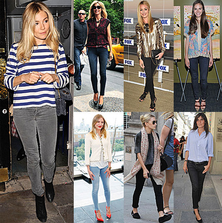 С чем носить женские зауженные джинсы