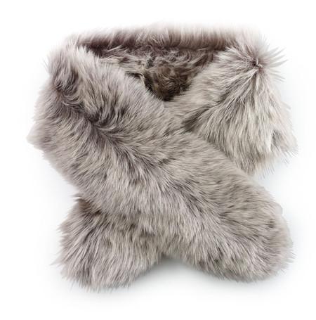 Меховой шарф - с чем сочетать? — фото 2