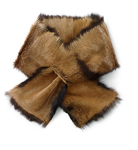Меховой шарф - с чем сочетать? — фото 1