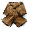 Меховой шарф - с чем сочетать?