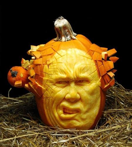 Современный символ Хэллоуина в лицах скульптур Рэя Виллафэйна — фото 6