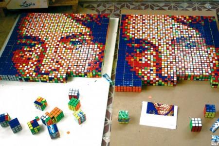 Кубик Рубика - краска для создания картин! — фото 2
