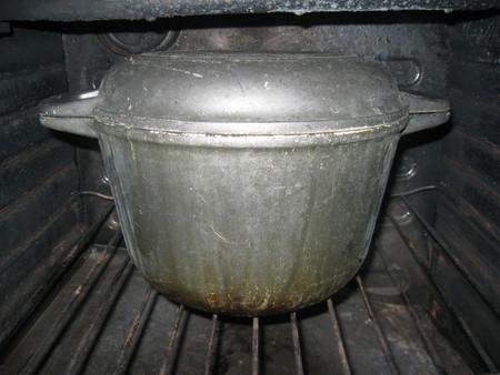 Многострадальная духовка, с казаном на пару.