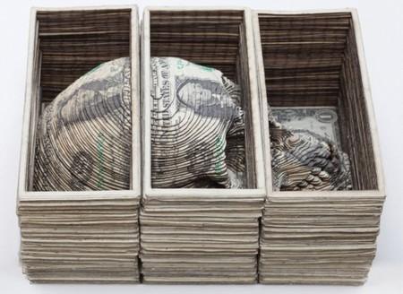 Небедный Йорик… Скотта Кэмпбелла: техника вырезания из долларов