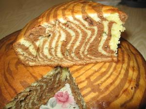 Пирог зебра торты и выпечка еда