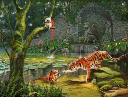 Тигры в живописи — фото 1