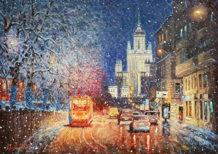 Заискрился снежный город — фото 1