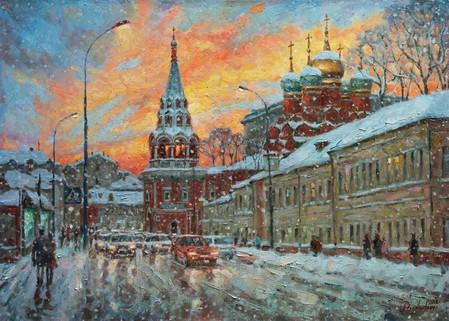 Красота зимнего заката — фото 1