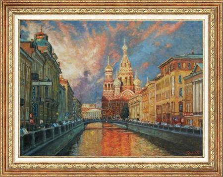 """""""Оттенки петербургского вечера"""". Канал Грибоедова."""