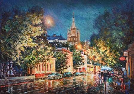 Москва, Малая Никитская улица, х.м., 50х70см., 1400$