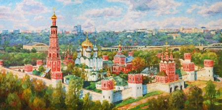 Москва, х.м., 50х100см.