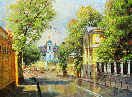 """Жаркий денек"". Москва. Яузская улица."