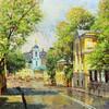 Московские улочки на полотнах Игоря Разживина.