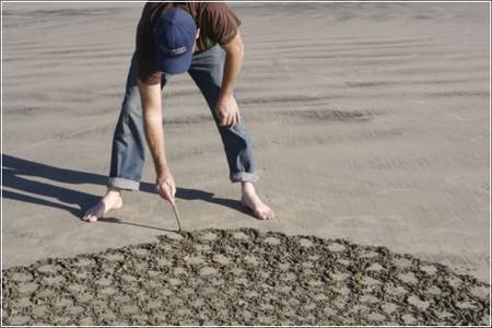 Рисунки на песке Джима Деневана — фото 1
