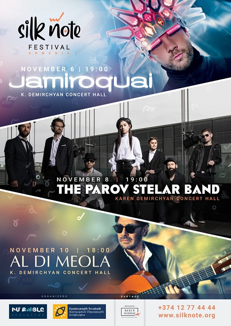 В Ереване на фестивале Silk Note выступят Jamiroquai, The Parov Stelar Band и Al Di Meola — фото 1