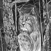Картина «Рысь» Марины Бочаровой на выставке в Петербурге