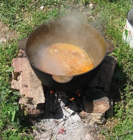 Плов по-татарски на открытом огне. — фото 6