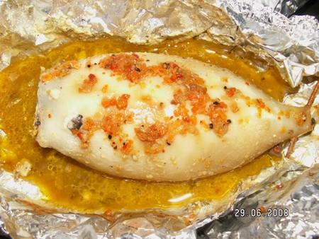 Рецепт фаршированных кальмаров с грибами и сыром — фото 6