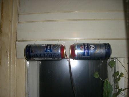 ТВ антенна из алюминиевых банок из-под пива — фото 1