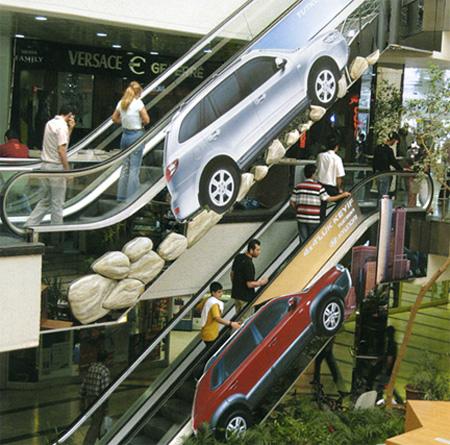 Реклама на лестницах и эскалаторах — фото 2