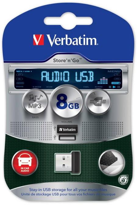 Автомобильная мини-флешка Verbatim Store'n'Go USB Car Audio Storage — фото 3