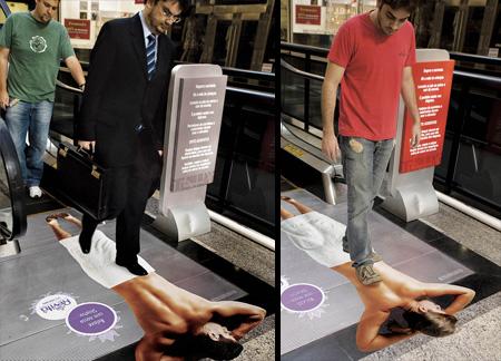 Реклама на лестницах и эскалаторах — фото 8