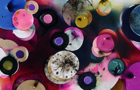 Полотна, созданные с помощью фейерверков — фото 1