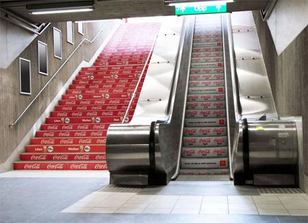 Реклама на лестницах и эскалаторах — фото 7