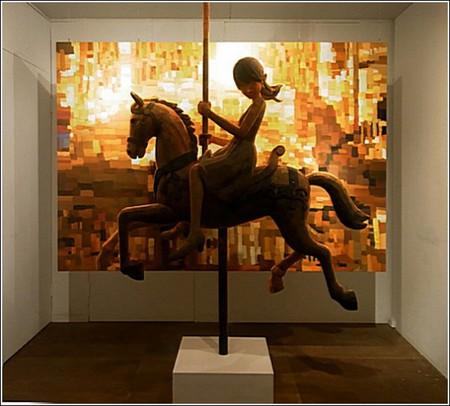 Счастливое детство в картинах-скульптурах Шинтаро Охато — фото 2