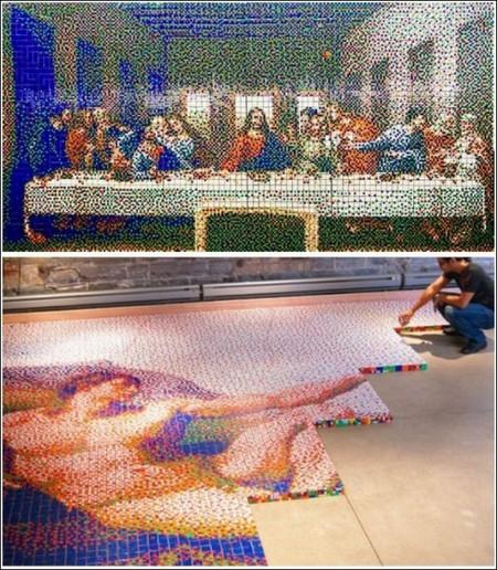 Картины из кубиков Рубика — фото 4