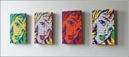Картины из кубиков Рубика — фото 1