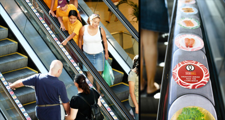 Реклама на лестницах и эскалаторах — фото 6