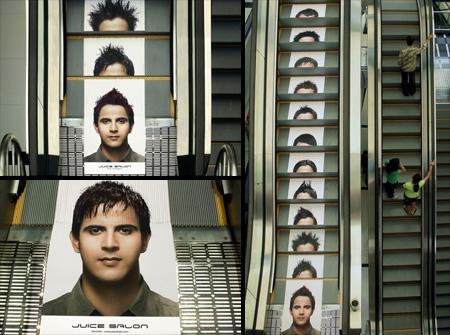 Реклама на лестницах и эскалаторах — фото 9