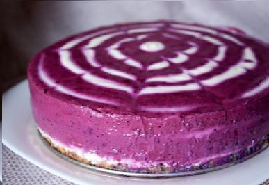Творожный торт с черникой. — фото 1