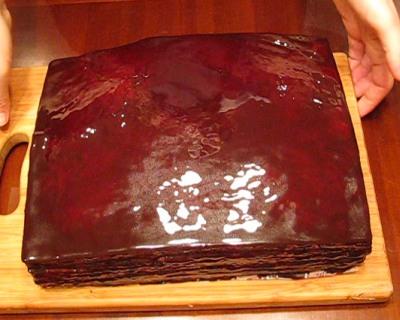 Шоколадно-медовый торт — фото 1