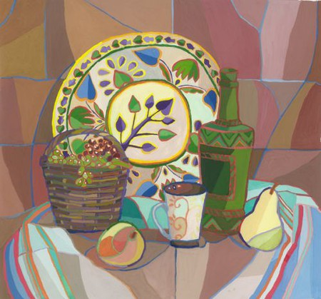 Натюрморты с цветными обводками — фото 5