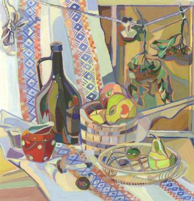 Натюрморты с цветными обводками — фото 2