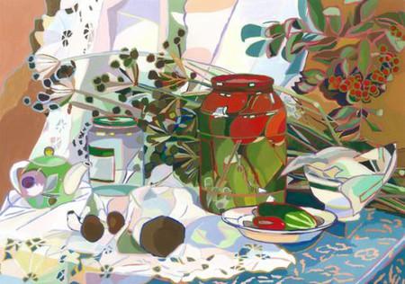 Натюрморты с цветными обводками — фото 3