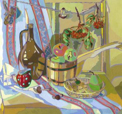 Натюрморты с цветными обводками — фото 1