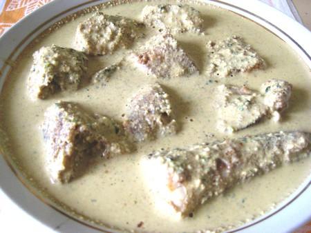 Жареная рыба под грузинским соусом баже — фото 2
