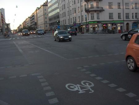 Полосы для движения велосипедистов — повсюду в Стокгольме