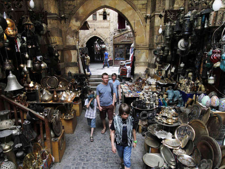 Рынок Хан-Эль-Халили в Каире